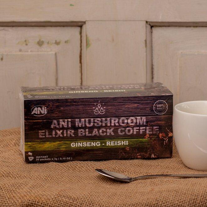ANi Mushroom Elixír Black coffee with Ginseng reishi
