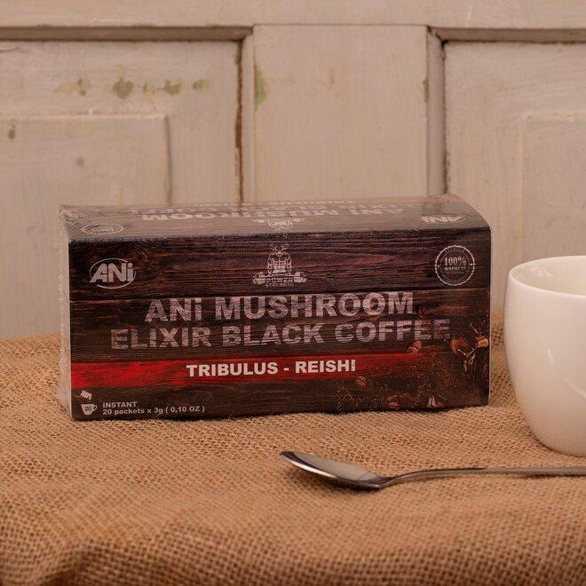 ANi Mushroom Elixír Black coffee with Tribulus reishi