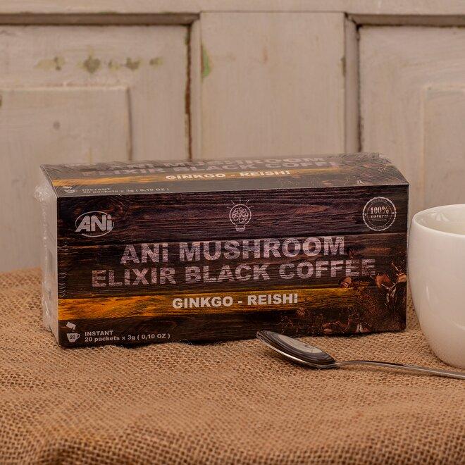 ANi Mushroom Elixír Black coffee with Ginkgo reishi