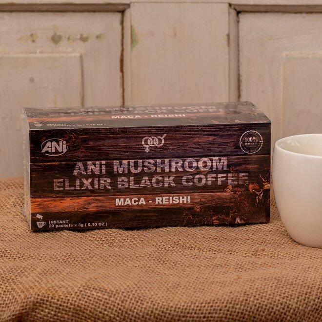 ANi Mushroom Elixír Black coffee with Maca reishi