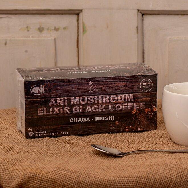 ANi Mushroom Elixír Black coffee with Chaga reishi