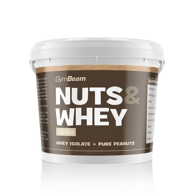 Proteinové arašídové máslo Nuts & Whey, 1000 g (Vanilka)
