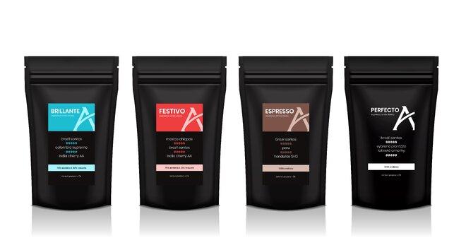 Degustační sada káv Alesio, 4× 100 g