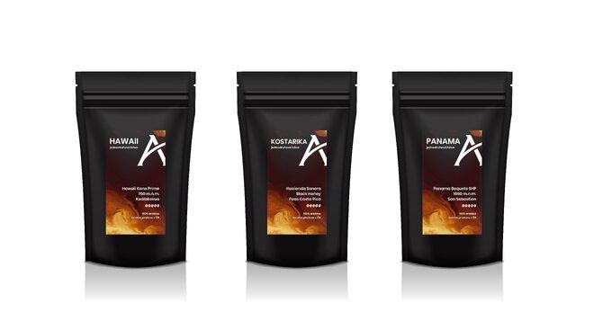 Degustační sada káv Premium, 3× 100 g