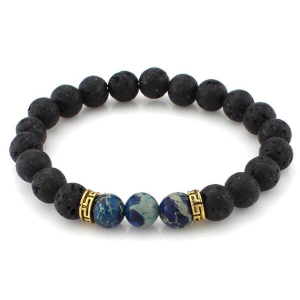 Láva - modré kameny