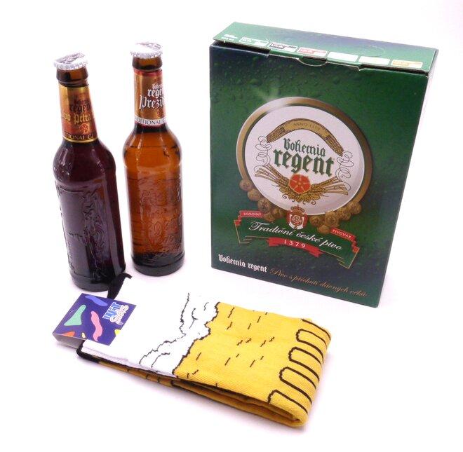 2 piva + podkolenky Pivo