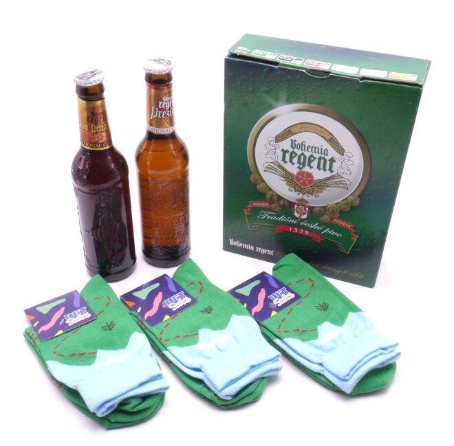 2 piva + 3 páry ponožek Cyklista II.