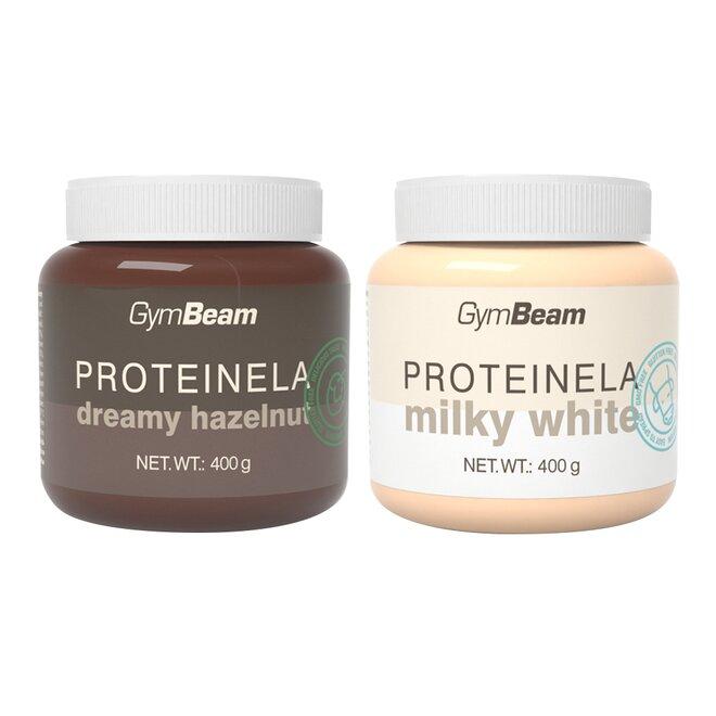 2x Proteinela (bílá čokoláda a lískové ořechy)