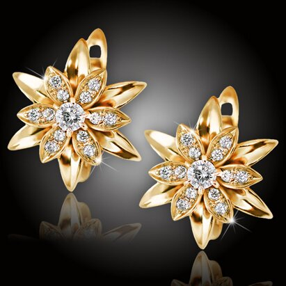 Náušnice La Diamantina Lilianna Gold