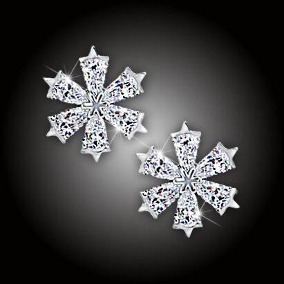 Náušnice La Diamantina Crystal Snowflake