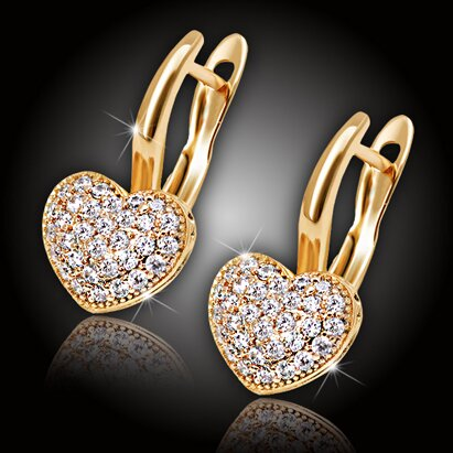 Náušnice La Diamantina Valentine Gold