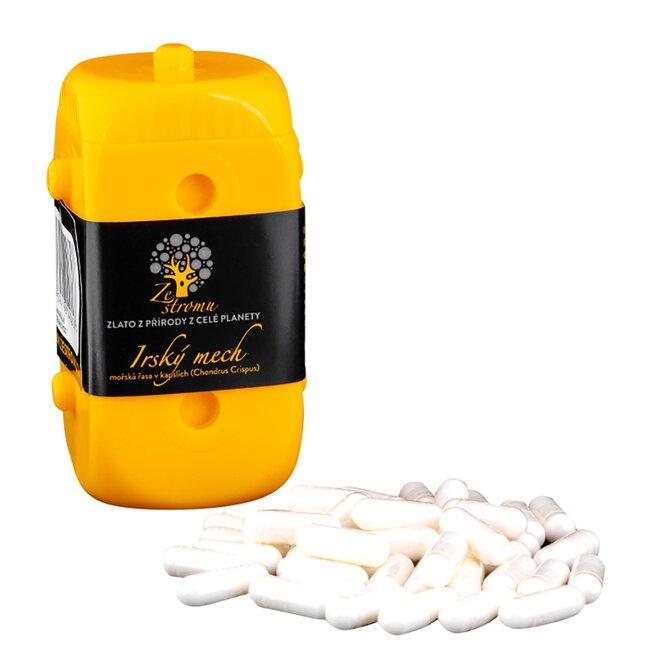 Irský mech v kapslích (500 mg v každé kapsli), 40 kapslí v EKOPA kostce - žlutá