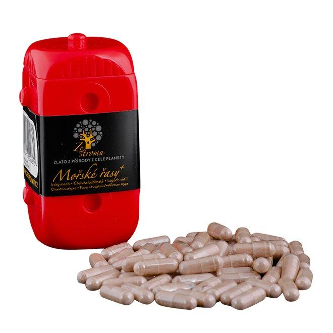 Mořské řasy plus (500 mg v každé kapsli), 40 kapslí v EKOPA kostce - červená