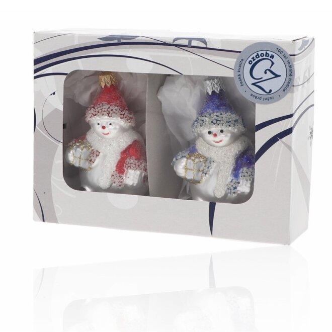 Sněhuláci s dárky - 2 ks