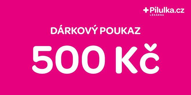 Dárkový poukaz do e-shopu Pilulka.cz v hodnotě 500 Kč