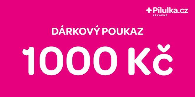 Dárkový poukaz do e-shopu Pilulka.cz v hodnotě 1000 Kč