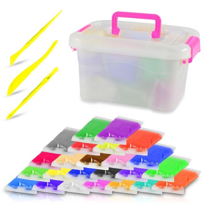 Inteligentní plastelína, 24 barev + 3 modelovací pomůcky