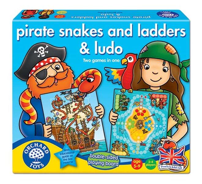 Pirátské žebříky a hadi & pirát Ludo