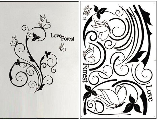 Květy a motýli