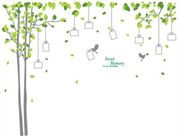 Strom s rámečky na fotky