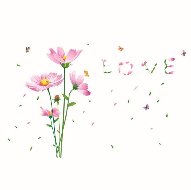 Květina růžová láska