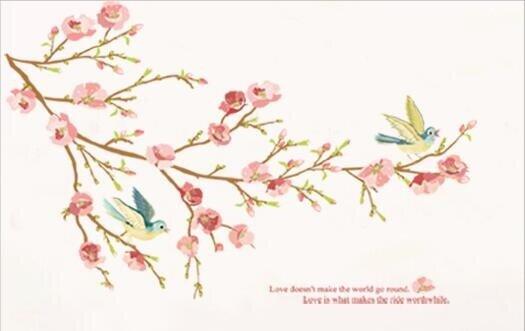 Růžová kvetoucí větvička