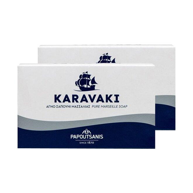 2x řecké Marseillské tuhé mýdlo, 125 g