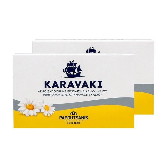 2x řecké tuhé mýdlo s výtažkem z heřmánku, 125 g