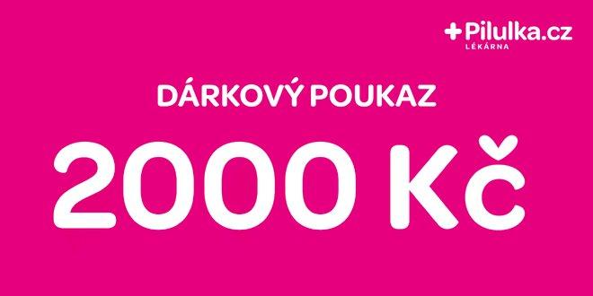 Dárkový poukaz do e-shopu Pilulka.cz v hodnotě 2000 Kč