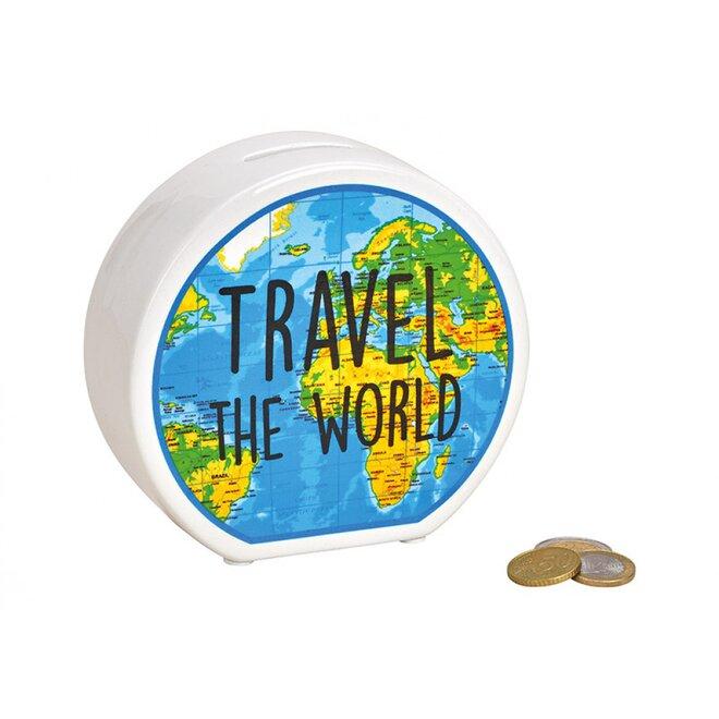 Pokladnička Travel the World (barevná)