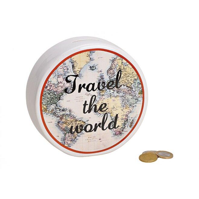 Pokladnička Travel the World (bílá)