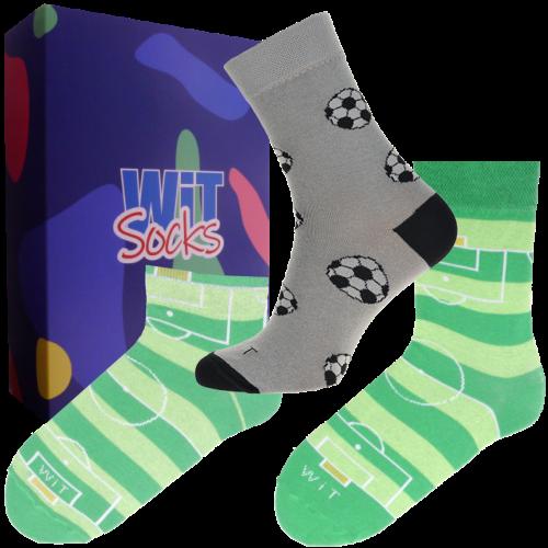 Dárkový set - 3 páry ponožek Fotbal
