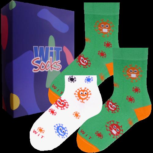 Dárkový set - 3 páry ponožek Bakterie