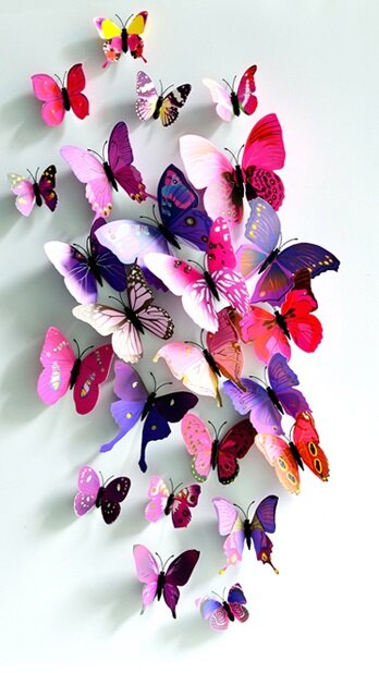 Sada 12 motýlků