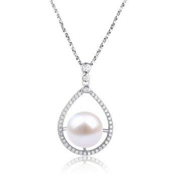 Stříbrný přívěsek s pravou říční perlou slza