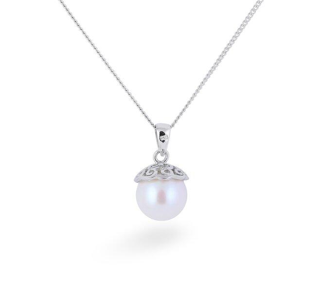 Stříbrný přívěsek s pravou říční perlou Caoimhe