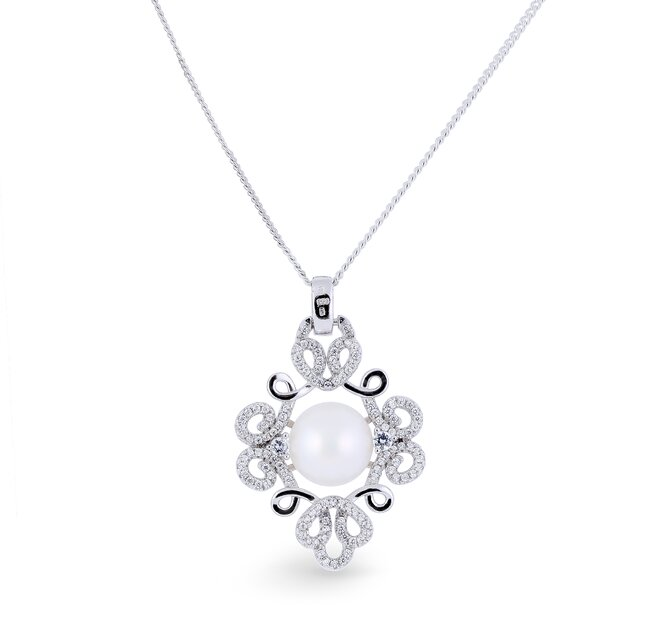 Stříbrný přívěsek s pravou říční perlou Sileas