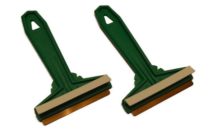 2× zelená škrabka Murska na autosklo
