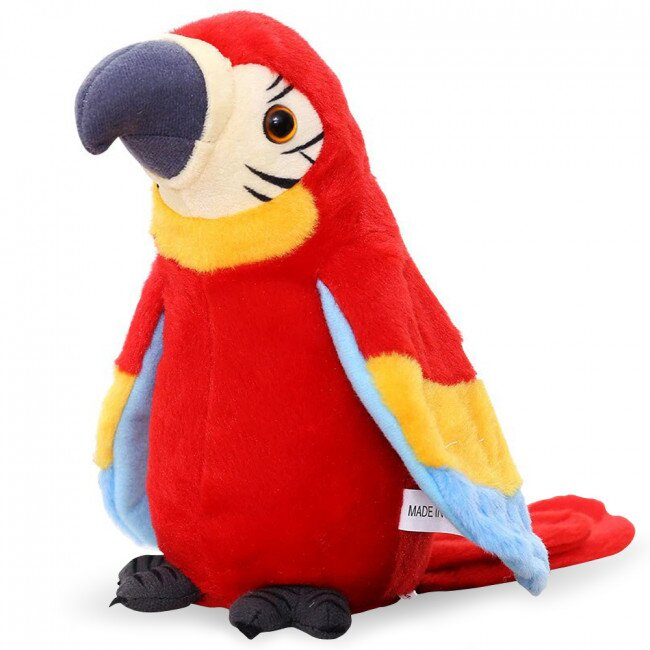 Mluvící papoušek – červený