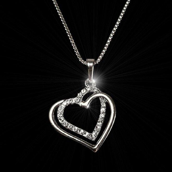Náhrdelník Srdce s dvojitou linkou