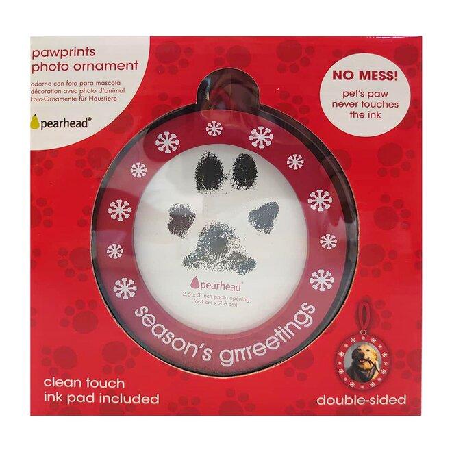 Vánoční oboustranný rámeček na otisk tlapky + foto Pearhead