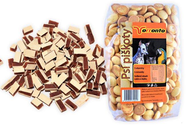 Kuřecí mini sendvič, 80 g + Piškoty s hroznovým cukrem, 120 g