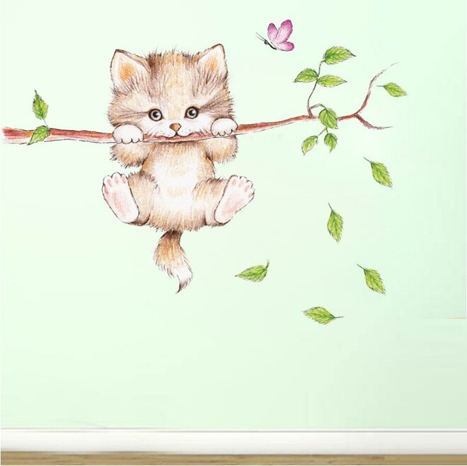 Dětské samolepky na zeď - Koťátko