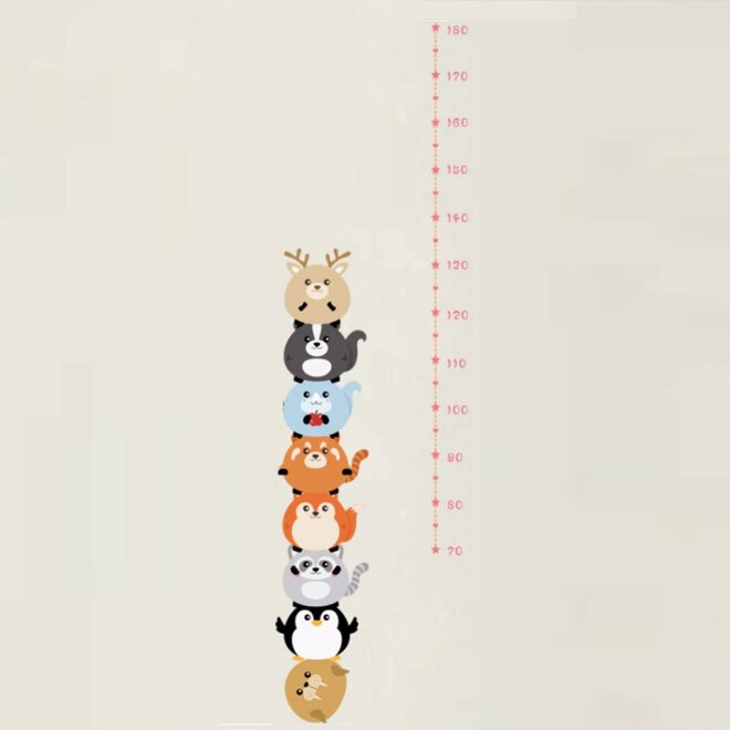 Metr na stěnu - Osm zvířátek