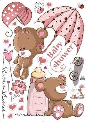 Dětské samolepky na zeď - Medvídek Teddy Bear