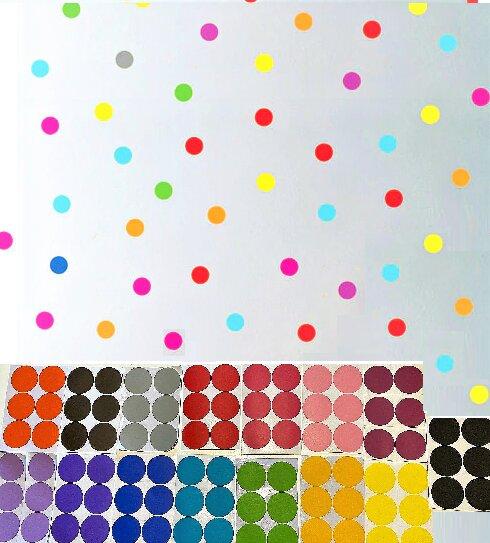 Dětské samolepky na zeď - Barevné puntíky 90 ks