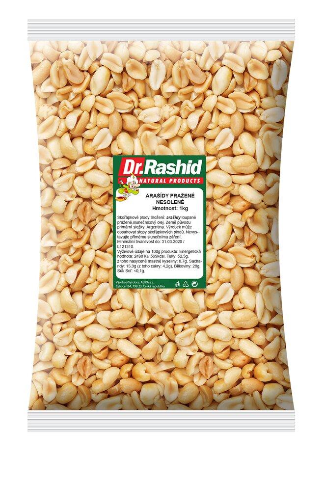 Arašídy pražené nesolené, 1000 g