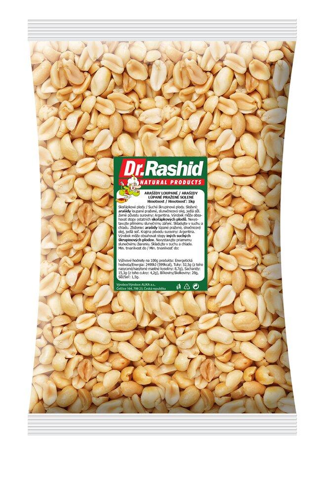 Arašídy pražené solené, 1000 g
