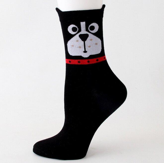 Ponožky s pejsky - černá