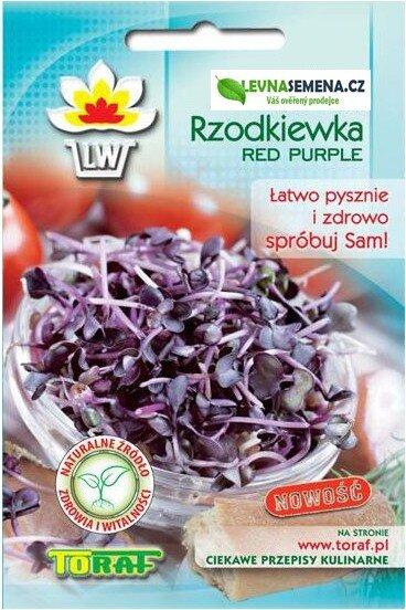 Ředkvička Red Purple ke klíčení, 10 g